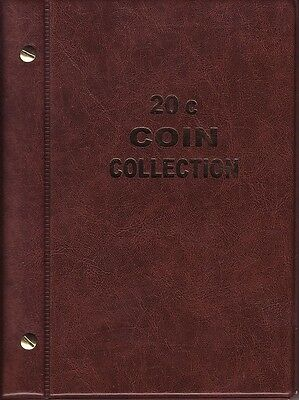 VST Brown 20c Album is for  Circulated Australian coins new pages 1966 to 2018