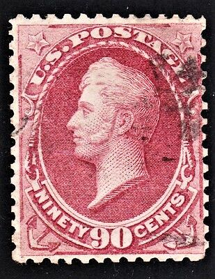 US Scott # 166 (A-54)  90¢ Rose-Carmine, Commodore Perry, Used Clean-Sound