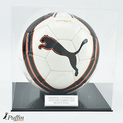 Acrylic Football Display Cases (WITH FREE PERSONALISED PLAQUE)