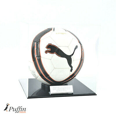 Acrylic Football Display Case (WITH FREE PERSONALISED PLAQUE)