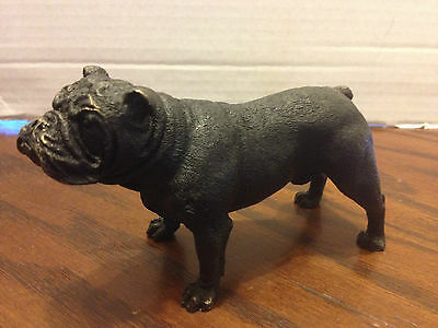 Vintage Bronze Bulldog Figurine Statue Genune Hot Cast