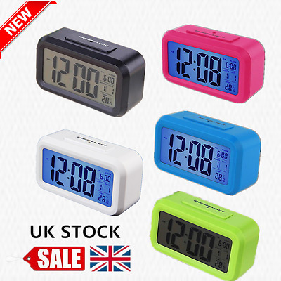 Digital LCD Snooze Electronic Alarm Clock with LED Backlight Light Control IN