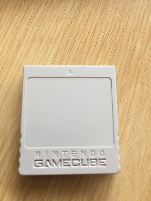 Carte mémoire officielle Nintendo pour console Game Cube grise 59 blocs gc ngc