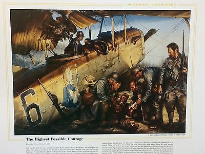 "National Guard Heritage Print - ""Highest Possible Courage"" By John D. Shaw"