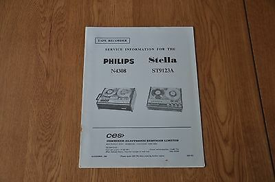 Philips N4308 Stella 9123A Tape Recorder Service Manual CES753