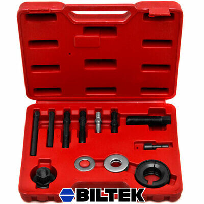 12pc Power Steering Alternator AC Pulley Puller Installer Extractor Tool Kit Set