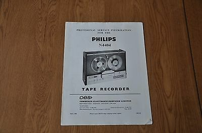 Philips N4404 Tape Recorder Provisional Service Manual CES731