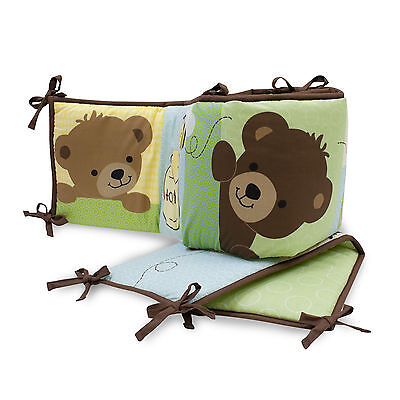 Bedtime Originals Honey Bear 4-Piece Crib Bumper