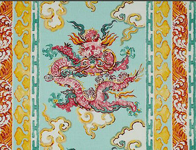 1 Metre of Enter The Dragons by Jim Thompson, Linen, Curtains fabric, Upholstery