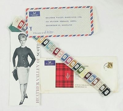 Vintage Fashion Catalog Heather Valley of Scotland w/ Wool Color Samples