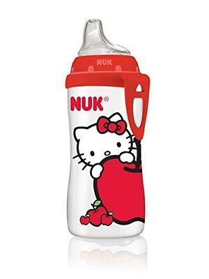 Nuk Hello Kitty Silicone Spout Active Sippy Cup 10-Ounce Liquid Beverages Red Fs