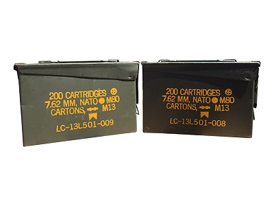 30 Cal ammo can - Grade 1 - 2 Pack