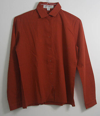 "vintage jaeger blouse rust 36"" Bust 1970s 1980s 100% cotton (306)"