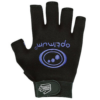 "Optimum ""stik Mits"" Rugby Gloves - Black/blue - Pair. Free Uk Post."