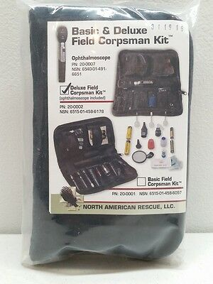North American Rescue Deluxe Field Corpsman Kit 20-0002 NAR NEW Ophthalmoscope