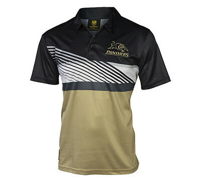 New Penrith Panthers Mens Polyester Polo Mens Supporter-Gear