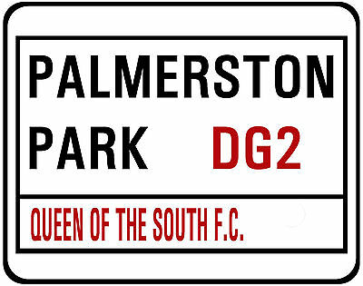 QUEEN OF THE SOUTH F.C. STREET SIGN ON MOUSE MAT / PAD. 22 X 18cm.