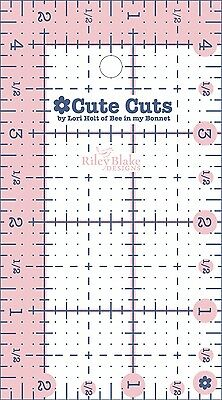 2-1/2 INCH x 4-1/2 INCH RECTANGLE CUTE CUT RULER, from Riley Blake Designs, NEW