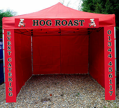 Heavy Duty Gazebo Catering Trailer Aluminium Marquee Fast Food Market Stall Tent