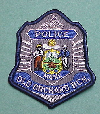 Old Orchard Beach  Maine  Me  ( Silver )  Police Patch   Free Shipping!!!