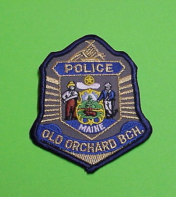 Old Orchard Beach  Maine  Me   ( Gold )  Police Patch   Free Shipping!!!