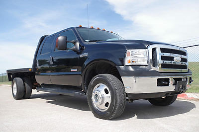 2007 Ford F-350 Lariat Cab & Chassis 4-Door 2007 Ford F350 Crew Cab Lariat Flatbed 4x4, 1-Owner, Diesel, Leather, More!