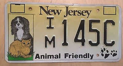 "New Jersey Animal Friendly License Plate "" Im 145C"" Nj Dogs And Cats Spay Neuter"