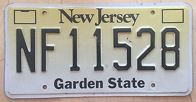 """Garden State No Fee  Tax Exempt Charity License Plate """" Nf 11528 """" Nj"""