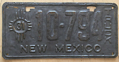"""1931 New Mexico Truck License Plate """" 10 794 """" Nm 31 Ready To Be Restored"""