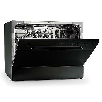 Klarstein Amazonia 6 Table Dishwasher A+ 1380W 6 Place Settings 49 dB Black