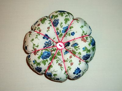 Hand Crafted Pin Cushion 10cm Pumpkin/flower style New, Gift Idea