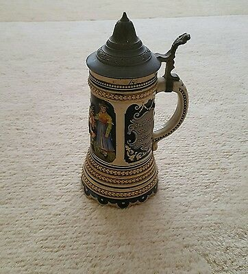 Vintage German Musical Beer Stein Tankard