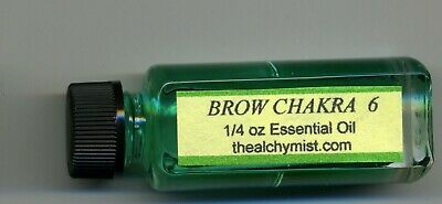 Chakra oil Brow 6 Charged wicca yoga 1/4oz Pagan Altar Ritual Alchymist1