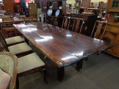CLOSEOUT Farm Table from timbers & decking from Old 1700's Sailing Ship Inv.#CFF