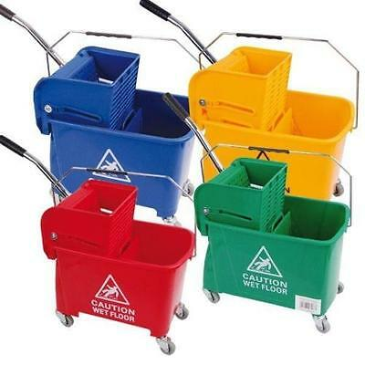 25L Kentucky Mop Bucket w/ Wringer, Colour Coded Catering,Blue,Green,Red,Yellow