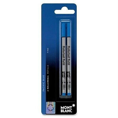 (2 count) Montblanc Rollerball refills - Fine -  New - Pacific Blue