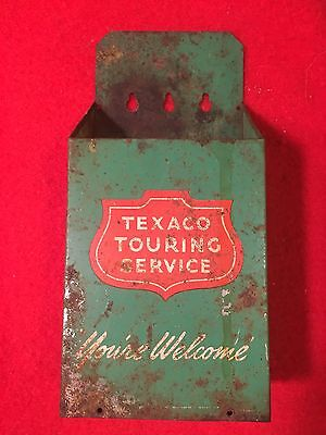 Vintage Metal TEXACO TOURING SERVICE ~ You're Welcome ~  Map Holder