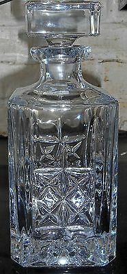 Marquis By Waterford Crystal 'brady' Square Decanter (Boxed) - New