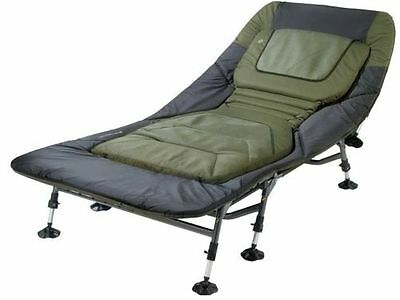 Fishing Tackle Bedchair Seat Carp Nash Bed Padded Chair Wide Storage Bag Folding