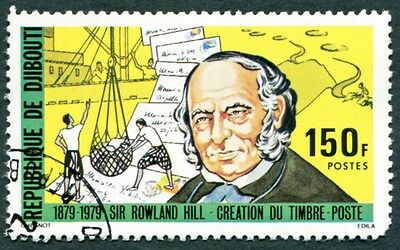 DJIBOUTI 1979 150f SG759 used NG Sir Rowland Hill Death Centenary a #W29