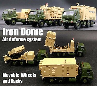 Israel Iron Dome air defense system limited 1/72 set of 3 trucks diecast model
