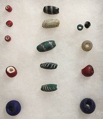 Outstanding Old Glass Indian Historic Trade Beads Found In Northern California