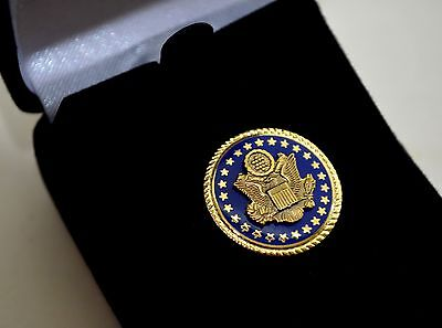 Democratic Senate Blue  & Gold-Plated Lapel Pin~Authentic~Gift Boxed~Democrat