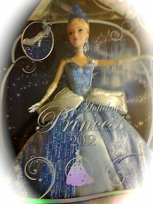 Disney Princess Cinderella Holiday Princess 2012 Barbie Doll with keepsake new