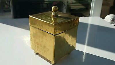 Small Handmade  Brass Trinket Box with Lid Apprentice Piece Quality Collectors