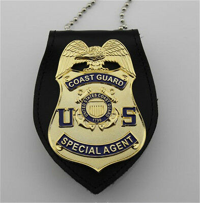 Elegant US Coast Guard Special Agent Badge Chain Belt Holder Cosplay Collection