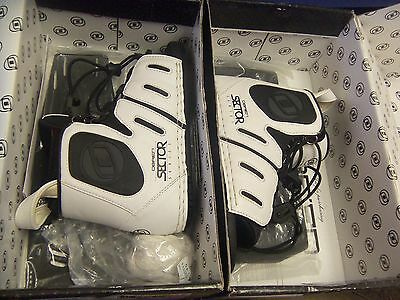 OBRIEN Sector Front/Rear Binding Pair NIB Mens 5-7 White/Black FREE SHIPPING