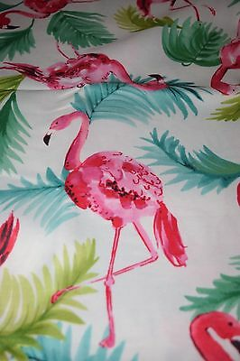 Nip 52 X 70 Flamingo Fabric Indoor Outdoor Tablecloth Spillproof Colorful