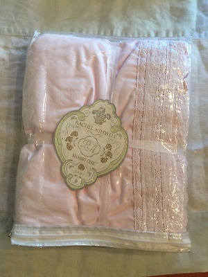 New Retired Rachel Ashwell Shabby Chic Crib Pink Lace Embroidered Crib Skirt.