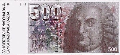 500 Francs Switzerland/Suisse VF 1976 Swiss BANKNOTE Pick 58